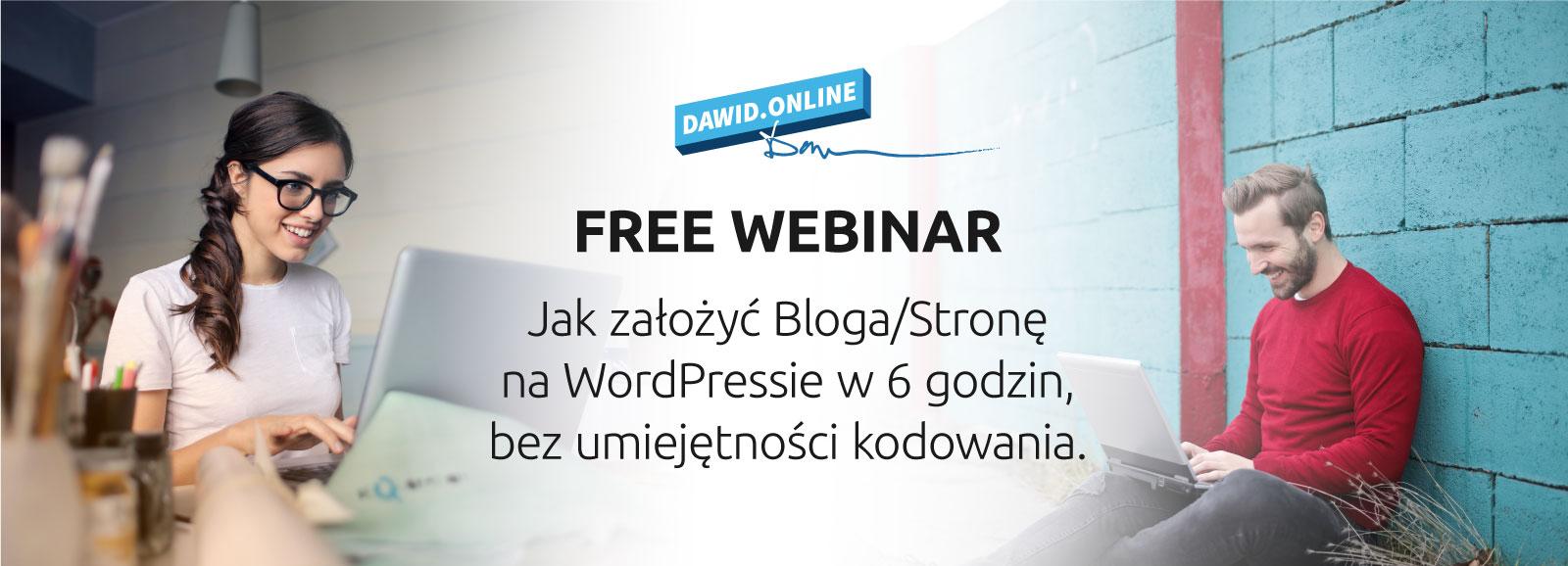 Darmowy Webinar - Jak założyć Bloga/Stronę