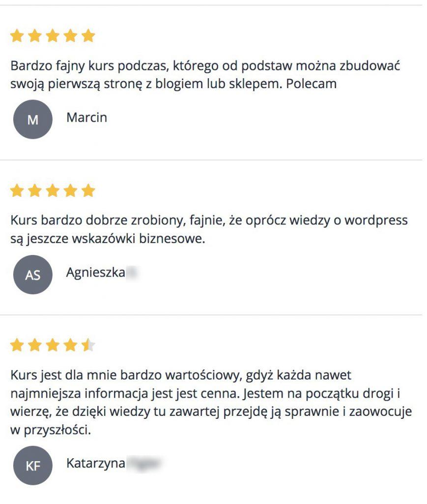 Opinie Kurs WordPress